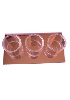 Display stand 3 round holders (Choice of 3 colors)