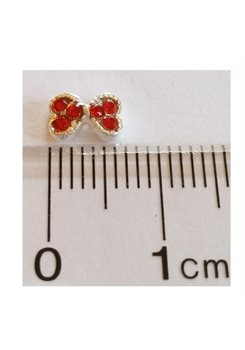3D Small Bow little red stones