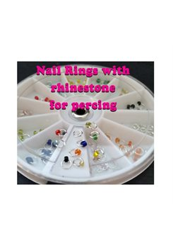 Wheel Nails Percing Jewels * 120 pcs