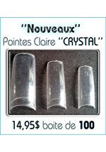 Boite 100 Pointes • Crystal Claire
