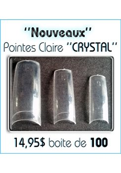 Boite 100 Pointes * Crystal Claire