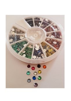Rhinestones Wheel * 12 colors * 4mm